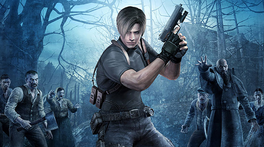 Leon from Resident Evil 4, which is playable on the Dolphin Android emulator.
