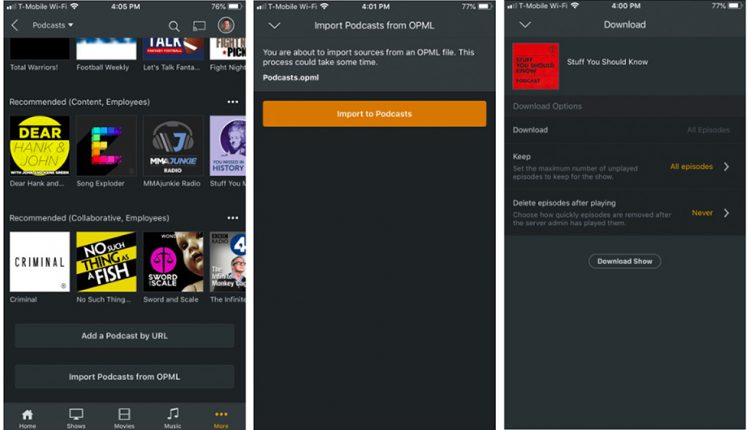 Plex Podcasts exits beta with new offline mode and OPML importing | Apps & Software