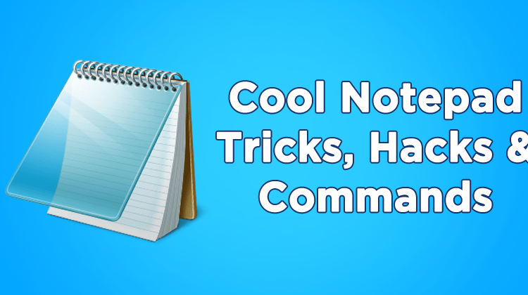 Top 20+ Coolest Notepad Tricks, Hacks & Commands 2018 | Viral Tech