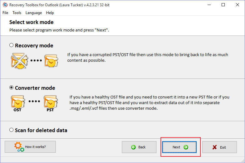 recovery toolbox for outlook