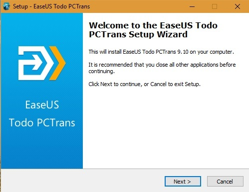 EaseUS Todo PC Transfer Setup