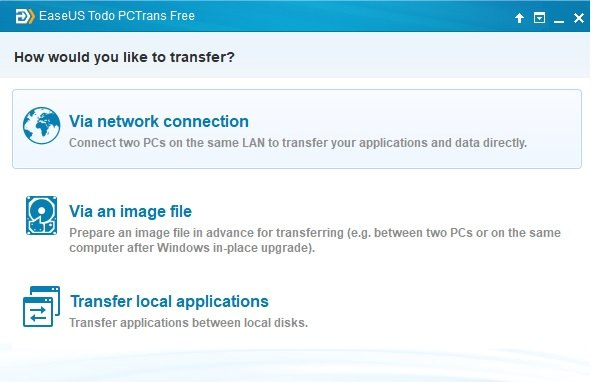 3 transfer modes of EaseUS Todo PCTrans