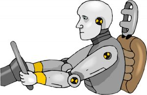 crash test dummy as an example of automation safety