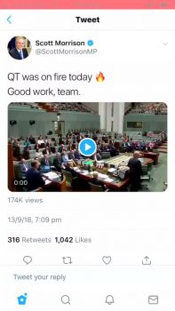 Scott Morrison deletes tweet of video from parliament set to explicit hip-hop track | Social