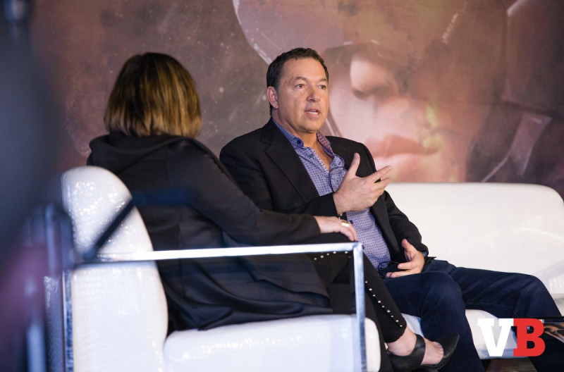Perrin Kaplan interviews Brian Fargo at GamesBeat Summit 2018.