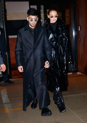 Zayn Malik and Gigi Hadid give the Matrix look a spin on the high street.