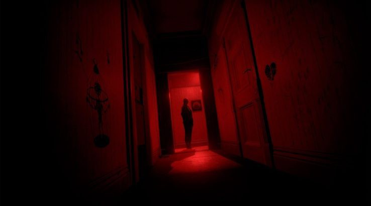 transference red hallway mom