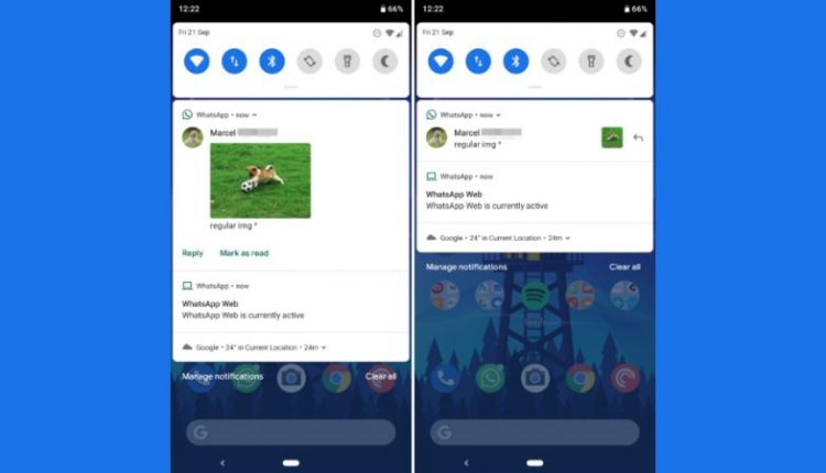 WhatsApp Testing New Inline Image Style for Notifications, Biscuit Sticker Pack on Android | Apps