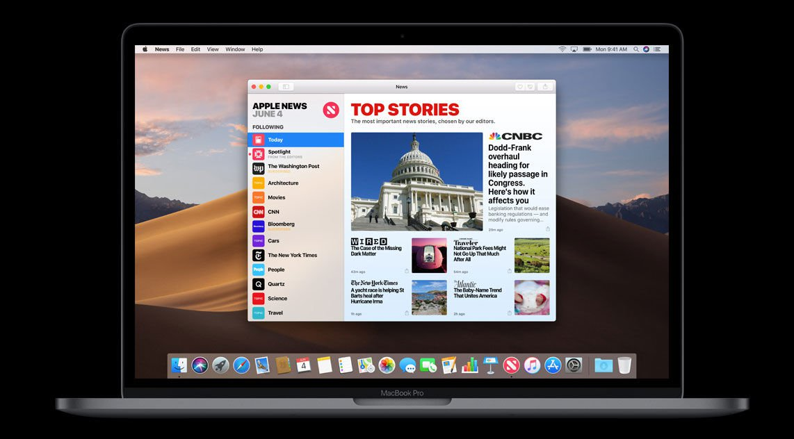 macOS Mojave release date & new features: News app