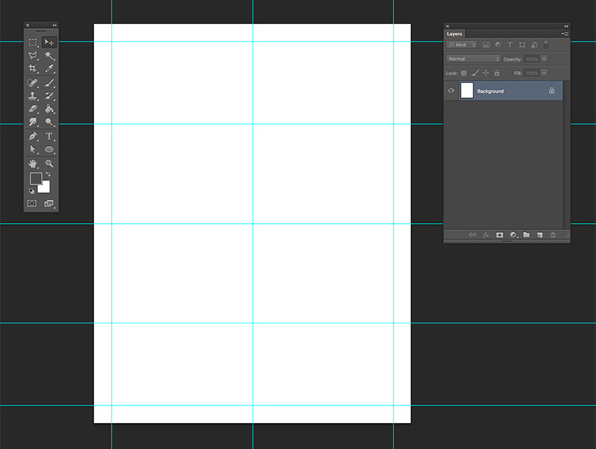 Create a 24 grid on the document