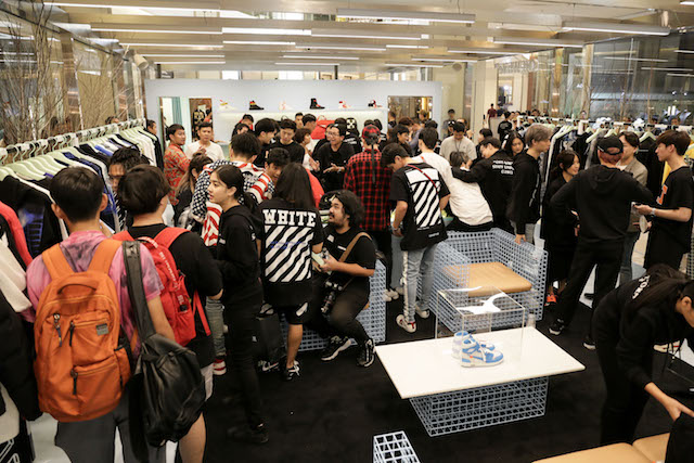 Shoppers at Off-White
