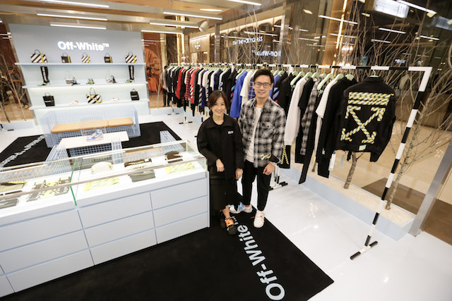 PP Group executives Olarn Puipunthavong and Suwadee Puengbunpra at the Siam Paragon Off-White store opening.