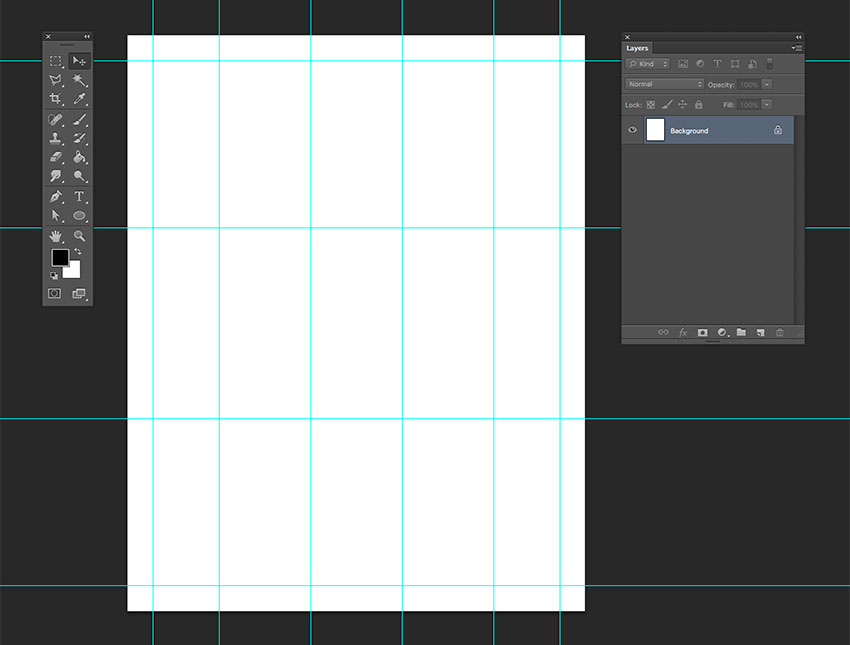 Create a 53 grid on the document