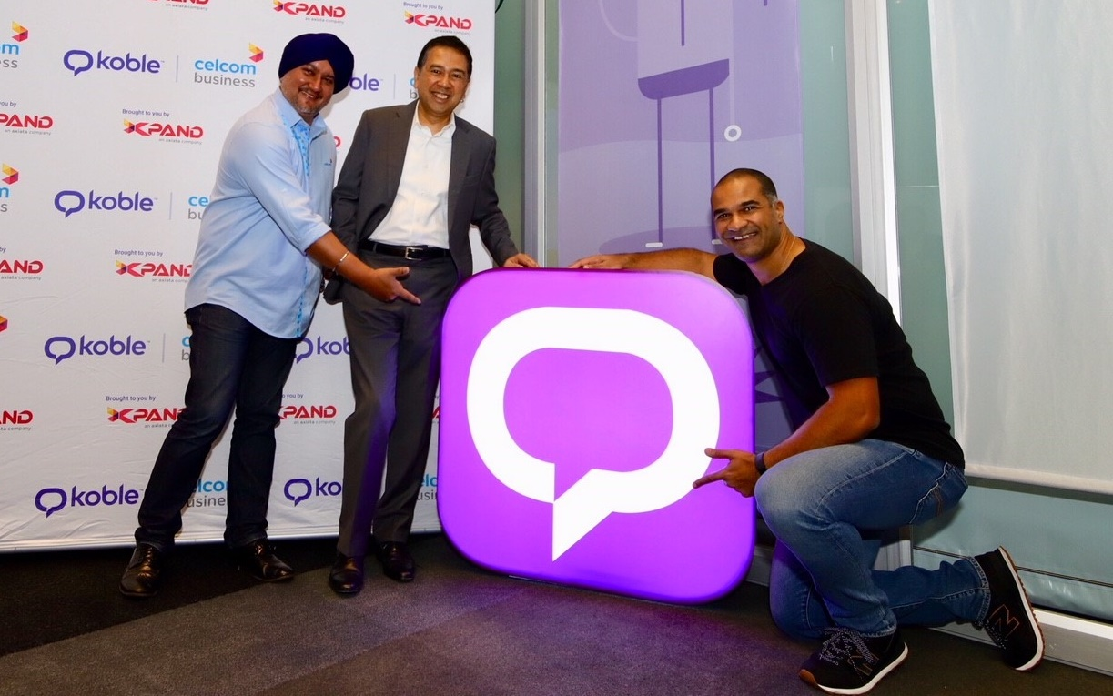 (From left) Celcom Axiata head of Enterprise Business and Solutions Surinderdeep Singh; Xpand CEO Asri Hassan Sabri; and Koble Inc founder & CEO Fabrice Saporito