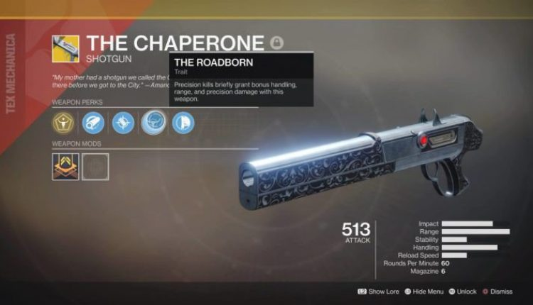 Destiny 2: How to Unlock The Chaperone Exotic Shotgun | Gaming News