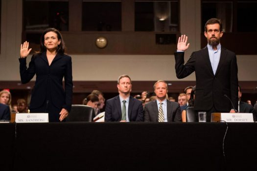 Facebook and Twitter in DC: What the congressional hearings looked like up close   Social