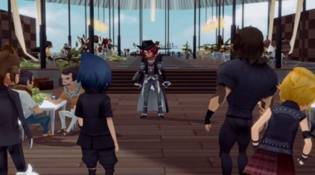 Noctis and friends with Ardyn