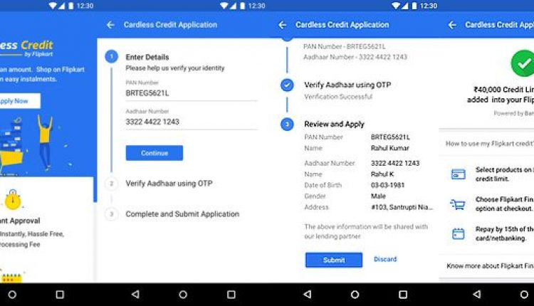 Flipkart Introduces Cardless Credit to Give Users Instant Credit Line Up to Rs. 60,000 | Apps