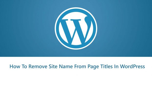 How To Remove Site Name From Page Titles in WordPress | Tutorial