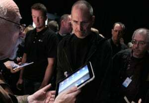 Former Apple CEO Steve Jobs at the launch of the iPad in 2010.