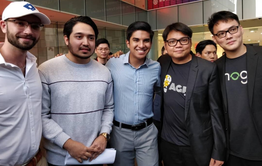 (From left) Mogu co-founder Matthew Tate; Tune Studios CEO Adib Khalid; Minister of Youth and Sports Malaysia Syed Saddiq; Agri Mind chairman Calvin Lau; and Mogu co-founder & CEO William Lau