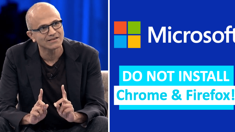 Microsoft Warns Users Not To Install Chrome & Firefox! | Viral Tech