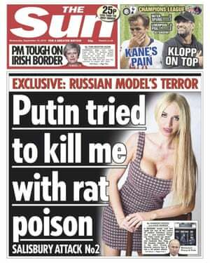 Sun front page: Putin tried to kill me with rat poison