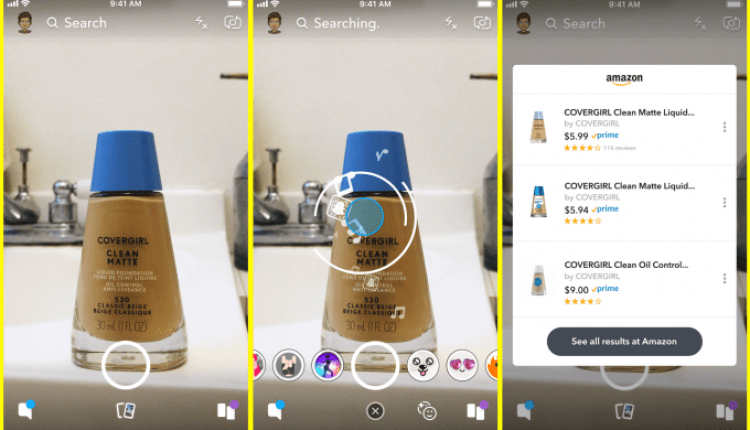 Snapchat lets you take a photo of an object to buy it on Amazon | Apps