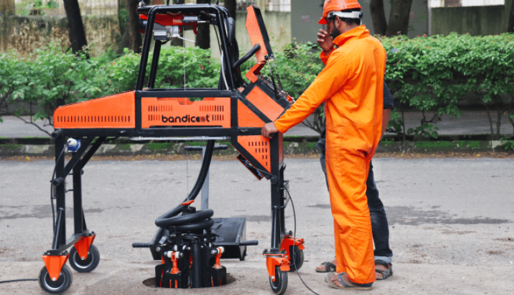 This robot could put an end to the practice of manual manhole cleaning in India   Digital Asia