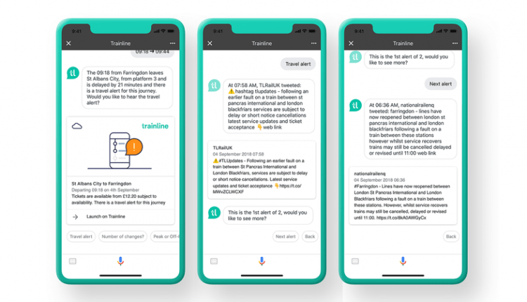 Trainline launches AI disruption alerts for Google Assistant | Innovation