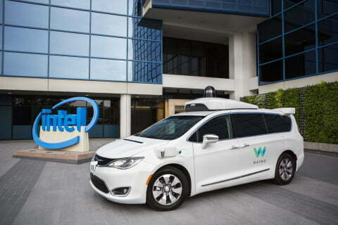 Waymo's self-driving Chrysler Pacifica hybrid minivans feature Intel-based technologies for sensor processing, general compute and connectivity, enabling real-time decisions for full autonomy in city conditions. (Credit: Intel)