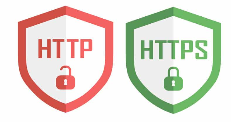 Look for HTTPS