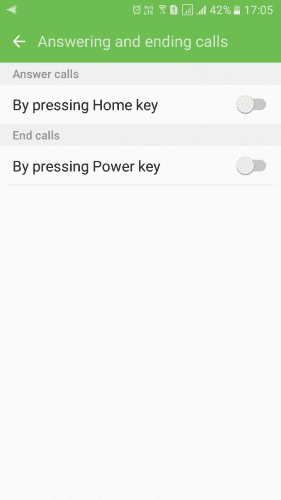 Using The Power Button To End Call