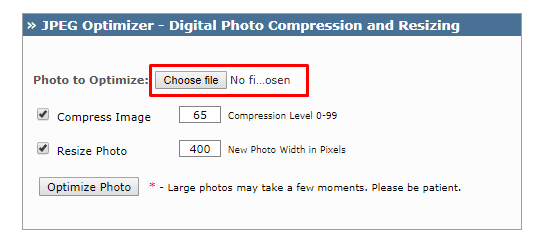 Using JPEG-Optimizer