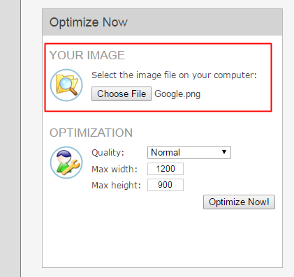 Using Image Optimizer