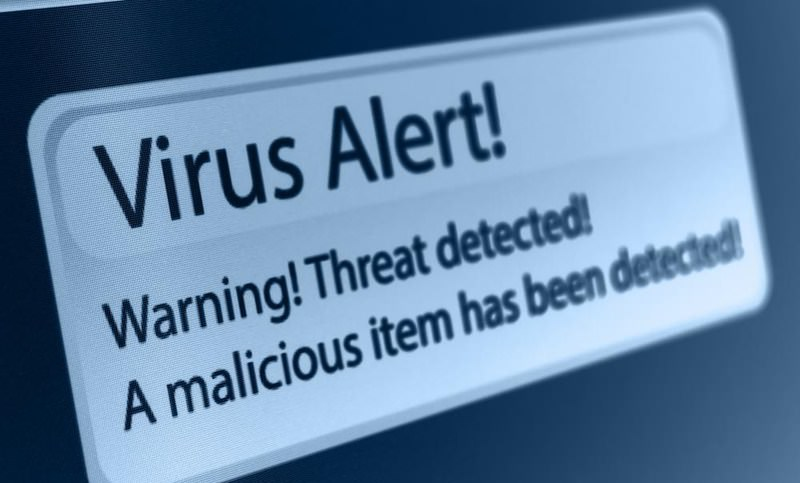antivirus warning