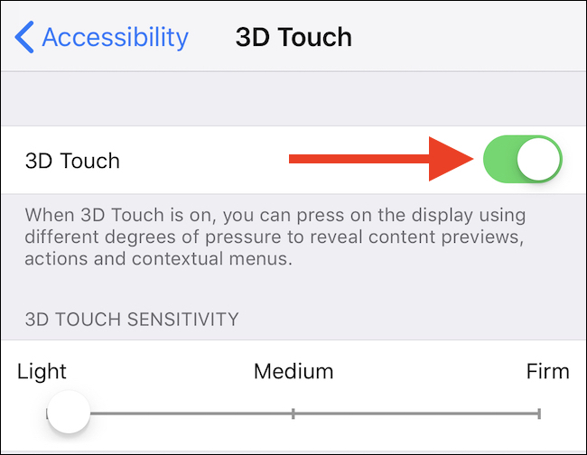How to Allow or Disable 3D Contact on an iPhone 5