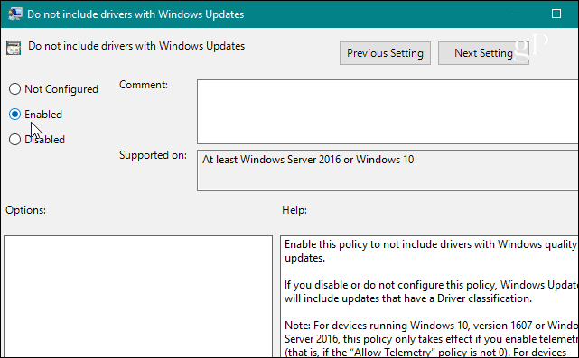 group policy enable windows update policy