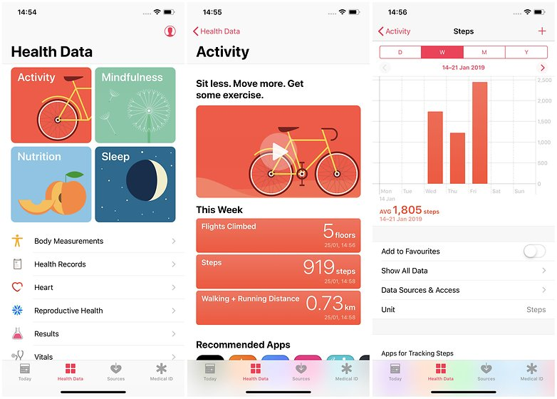 apple health app steps