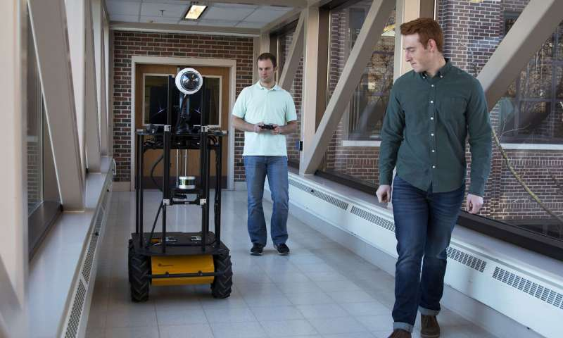 Autonomous robot that interacts with humans using natural language and vision processing