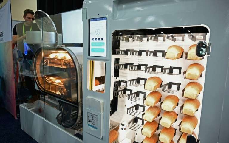 The BreadBot—a fully automated bread-making machine that mixes, kneads, proofs, bakes and sells bread like a vending machine is