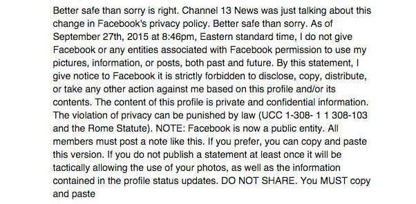 This viral hoax message should be ignored