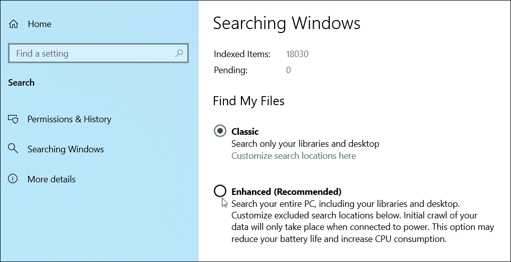 How to Enable Enhanced Search Mode on Windows 10 4