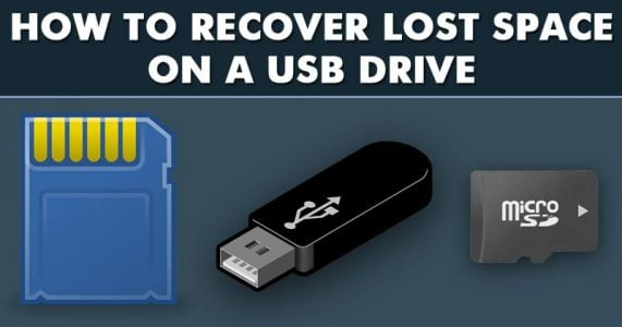 How to Recover Lost/Unallocated Space on a USB Drive