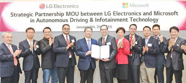 LG partners with Microsoft to accelerate automotive