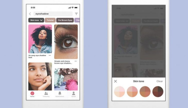 Pinterest makeup searches can soon be customized by skin tone