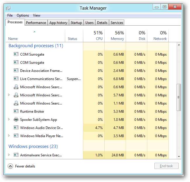 Using Task Manager