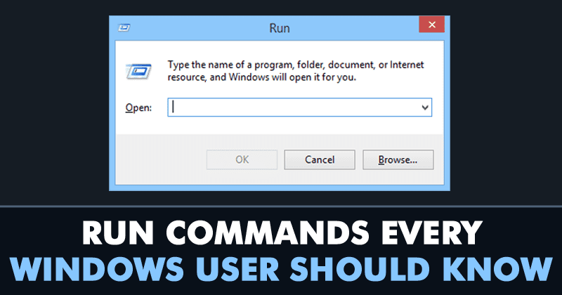10 Run Commands Every Windows User Should Know