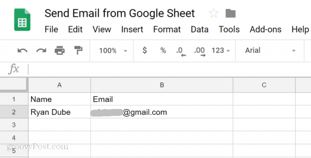 set up email in google sheets