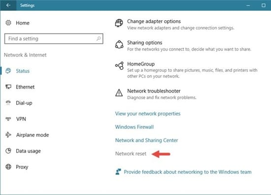 Completely Reset Network Settings on Windows 10